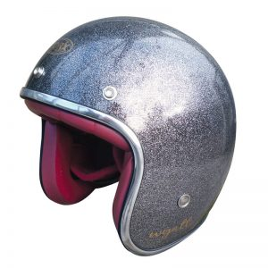 Casque jet gris anthracite pailleté